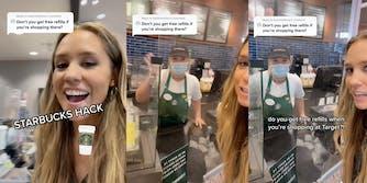 Free refills Starbucks