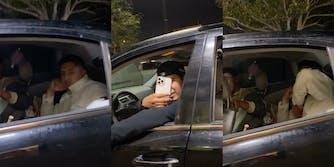 Man in car mocking McDonald's worker