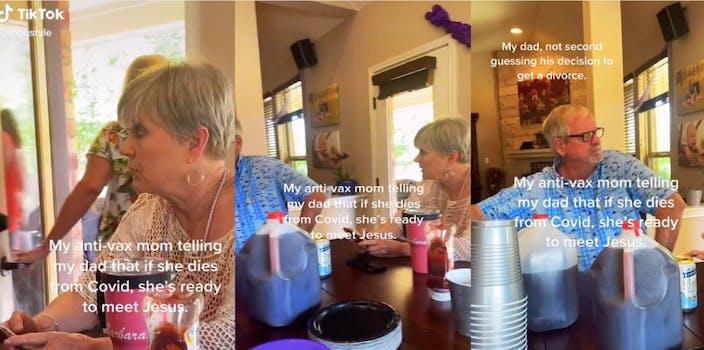 Anti-Vaxx mom talking to her husband