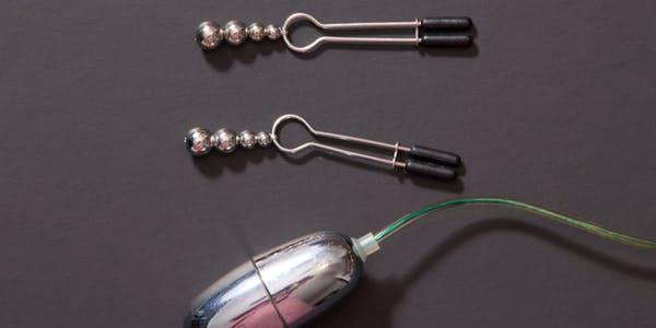 vibrator and nipple clips