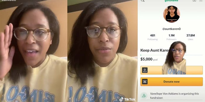 """Denise Bradley, who goes by Aunt Karen on social media, says she is safe after receiving death threats as a result of one of her """"Racist of the Day"""" videos."""
