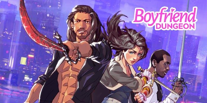 three people holding swords from boyfriend dungeon