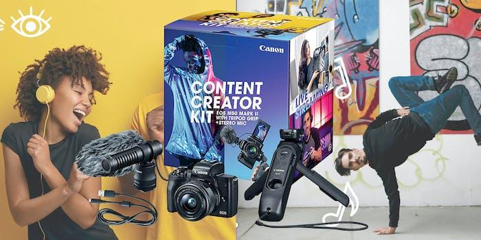 canon content creator kit eos m50