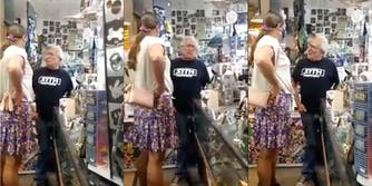 Washington Councilwoman Tiesa Meskis confronted a store owner about a transphobic sign he had in his store.
