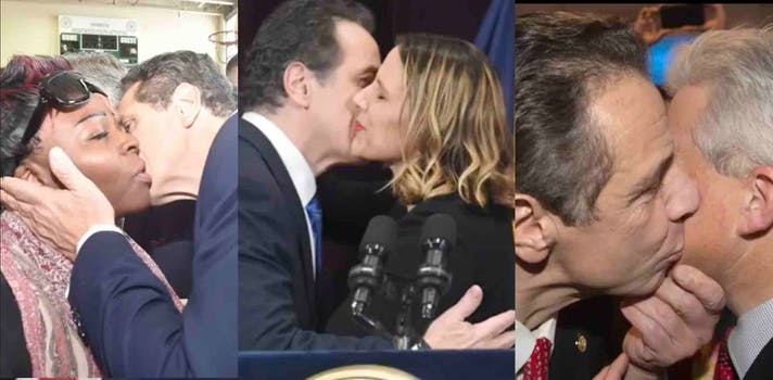 images of cuomo kissing lots of people