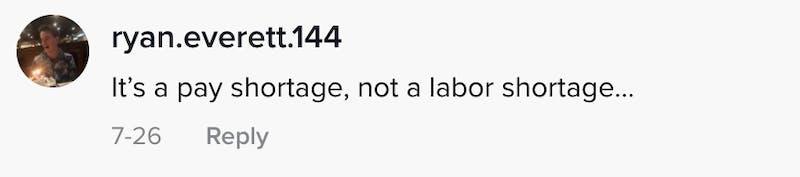 It's a pay shortage, not a labour shortage