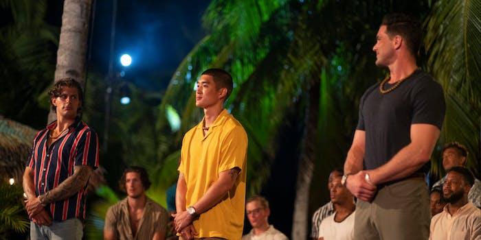 three contestants on fboy island