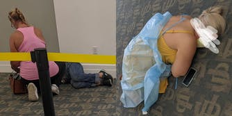 people lying on the floor in the hospital