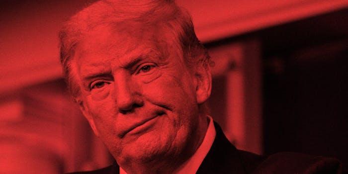 Donald Trump looking off camera.