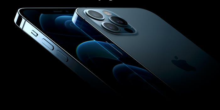 Close up photo of the sleek iPhone 12 Pro max