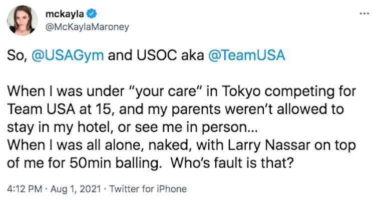 tweet from mckayla maroney