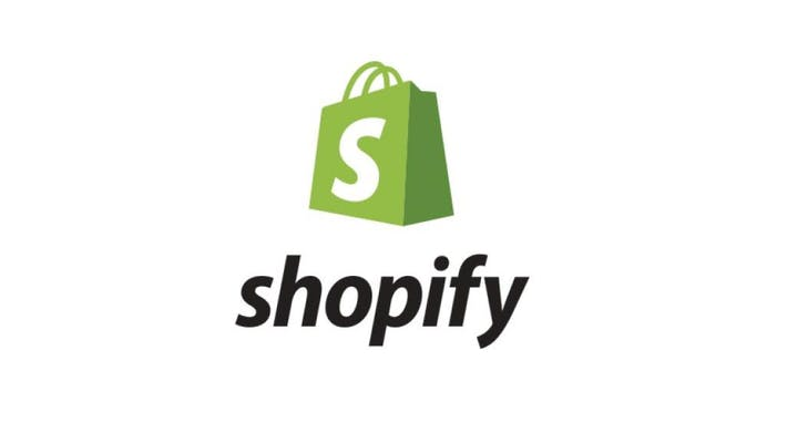 shopify logo with green bag