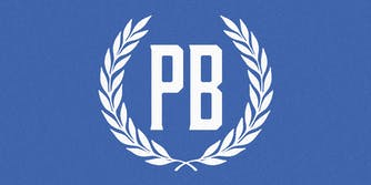 Proud Boys logo in Facebook colors