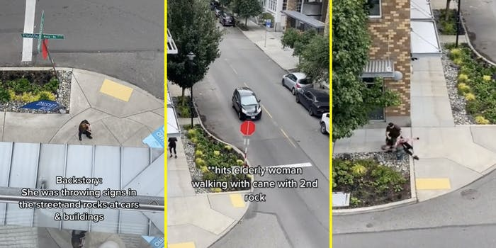 rock thrower tackled viral tiktok video