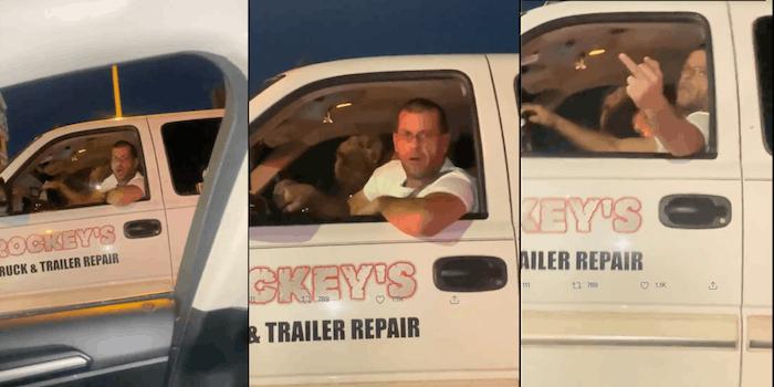 video road racist rant