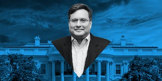 Ron Klain in front of the White House.