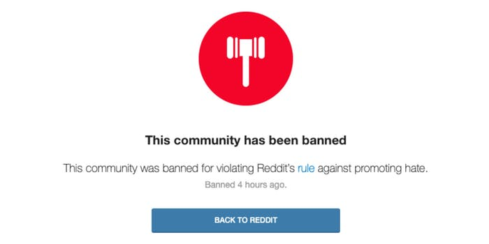 A notice about the banning of r/MGTOW