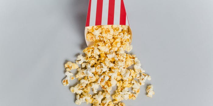 stock image of popcorn