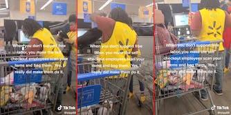 Walmart self-checkout TikTok