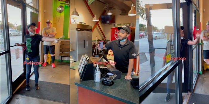 A Wingstop manager fires an employee in a screaming match.
