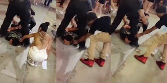 Couple attempts to rob cuffed man