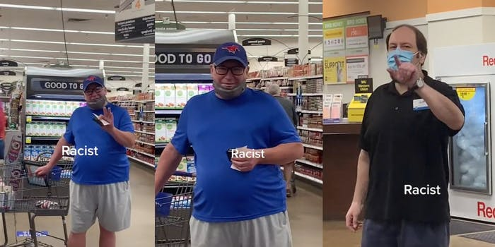 A Black Instacart shopper claimed two white men harassed her at a Kroger store