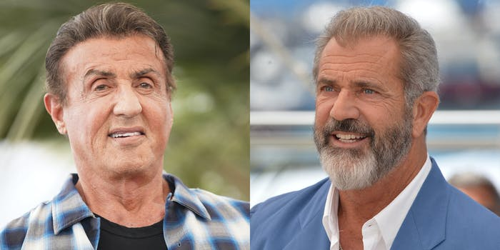 Sylvester Stallone and Mel Gibson.
