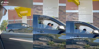 Woman yelling homophobic slur from her car in a McDonald's drive-thru