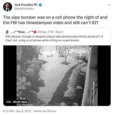 A tweet from Jack Posobiec.