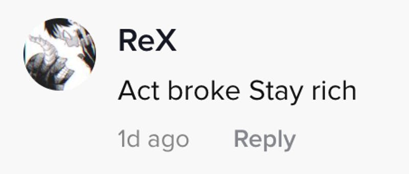Act broke stay rich