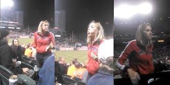baseball fan spits