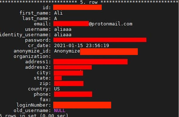ali anonymize data