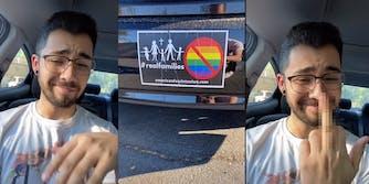 TikToker shows boss' anti-LGBTQ bumper sticker