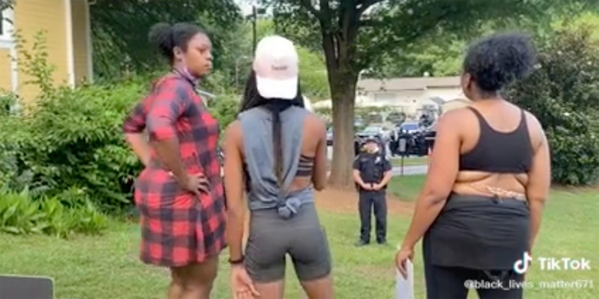 Black women confront police