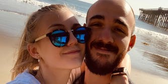 Gabby Petito and Brian Laundrie on a beach