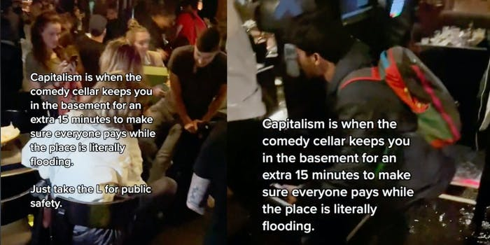 comedy cellar during new york flooding