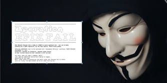 anonymous mask worn by man in epikfail hack