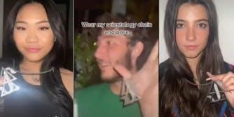 suni lee with scientology chain,Frankie Jonas Scientology TikTok, charli d'amelio with scientology chain