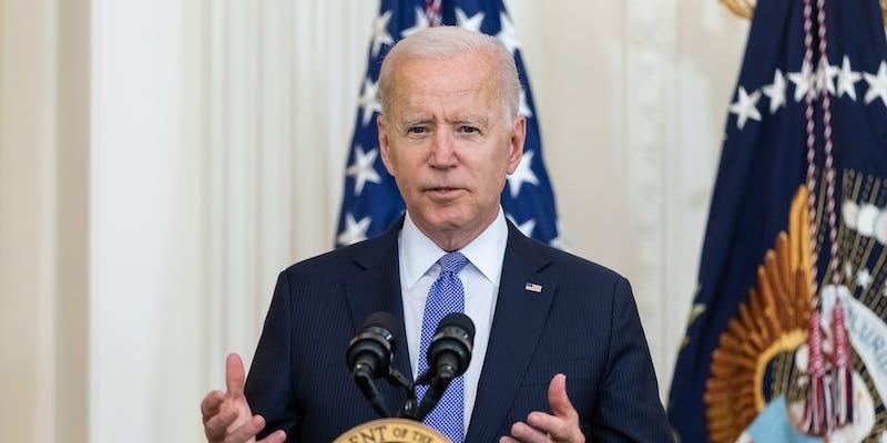 Joe Biden at lectern