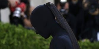 Kim Kardashian arrives on the red carpet for The Met Gala