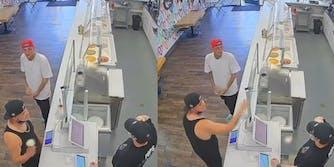 Man Throws Ice Cream at worker tiktok