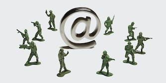 Plastic army toys.