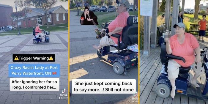 racist karen tiktok mobility scooter