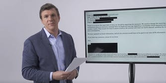 James O'Keefe with email on screen