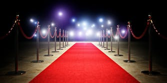a photo of a red carpet