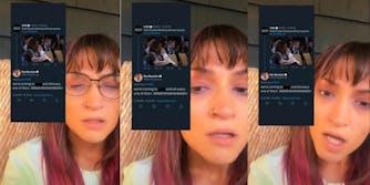 A TikTok user showing a tweet