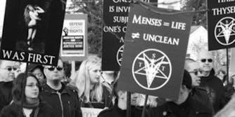 Satanic Temple abortion protest