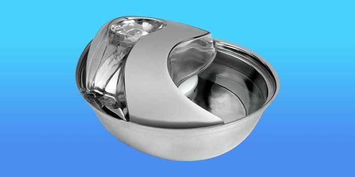 stainless steel pet water fountain