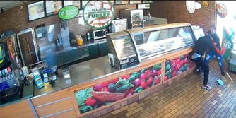 Subway employee Araceli Sotelo was robbed on the job and then suspended from her job.