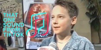 A child being interviewed.